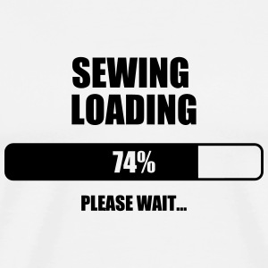 Sewing Sewer Couture Fashion Nähen Schneider  Aprons - Men's Premium T-Shirt