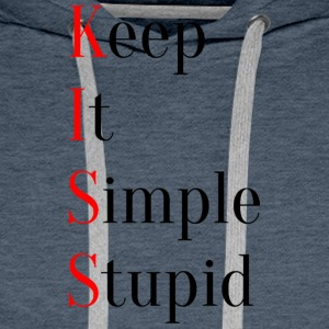 KISS - Keep It Simple Stupid - Premium hettegenser for menn