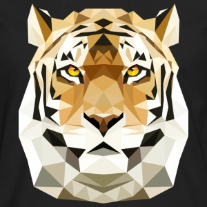 Tiger Cat poly low polygon predator cat T-Shirts - Men's Premium Longsleeve Shirt