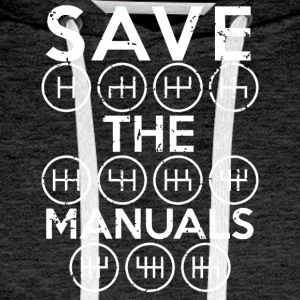 Save the manuals shirt - Men's Premium Hoodie