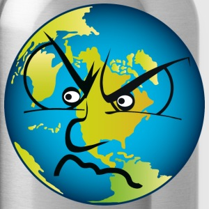 earth angry T-Shirts - Water Bottle