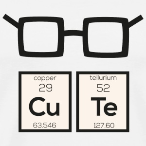 Cute little chemical element nerd glasses Swp34 Mugs & Drinkware - Men's Premium T-Shirt