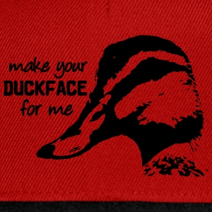 Make your Duckface for me.  - Snapback Cap