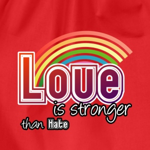 Love - stronger than hate - Turnbeutel