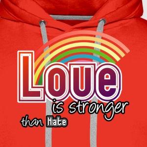 Love - stronger than hate - Männer Premium Hoodie