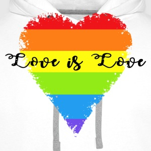 Love is Love T-Shirts - Männer Premium Hoodie