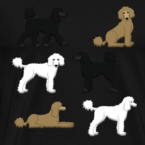 Poodle selection Long Sleeve Shirts - Men's Premium T-Shirt