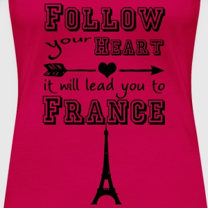 Heart leads you to France Tops - Women's Premium T-Shirt