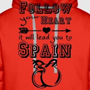Heart leads you to Spain T-Shirts - Männer Premium Hoodie