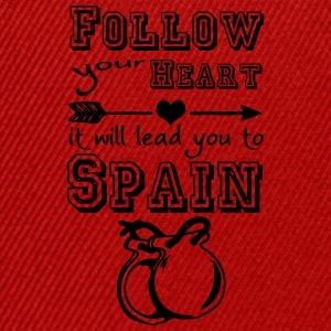 Heart leads you to Spain T-Shirts - Snapback Cap