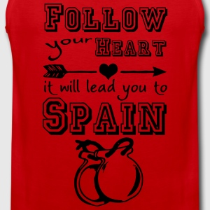 Heart leads you to Spain T-Shirts - Männer Premium Tank Top