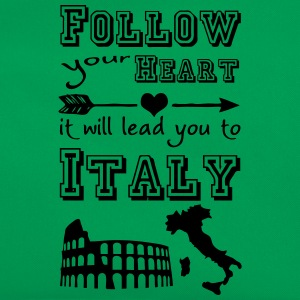 Heart leads you to Italy T-Shirts - Retro Tasche