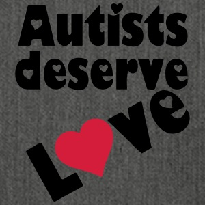 Autists deserve Love T-Shirts - Shoulder Bag made from recycled material