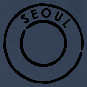 Navy/white Seoul Bags  - Men's Premium T-Shirt