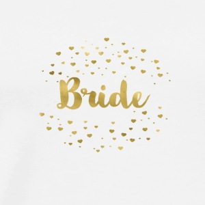 bride_gold_heart Topper - Premium T-skjorte for menn