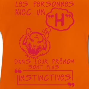 h instinctive prenom citation lettre per Tee shirts - T-shirt Bébé