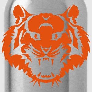 Tiger fierce open mouth _1611  Aprons - Water Bottle