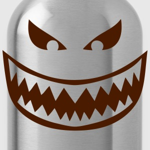 1612 Smiley Zahn wilder Bösewicht T-Shirts - Trinkflasche