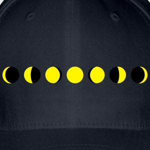 moon, phases of the moon - månen T-skjorter - Flexfit baseballcap