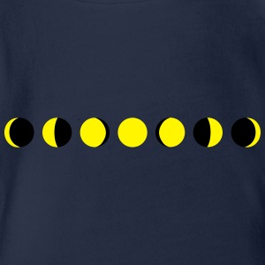 moon, phases of the moon - luna Magliette - Body ecologico per neonato a manica corta
