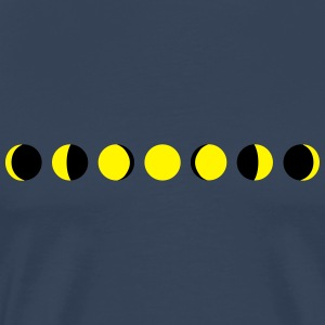 moon, phases of the moon - maan Sportkleding - Mannen Premium T-shirt