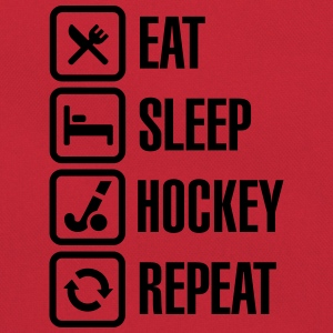 Eat Sleep Hockey Repeat T-Shirts - Retro Bag