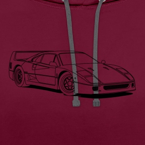 f40 outlines T-Shirts - Contrast Colour Hoodie