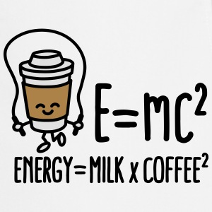 E=mc2 - Energy = Milk x Coffee2 Tee shirts - Tablier de cuisine