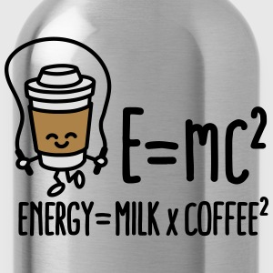 E=mc2 - Energy = Milk x Coffee2 T-shirts - Drikkeflaske