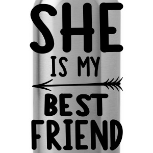 She is my best friend - right T-shirts - Drikkeflaske