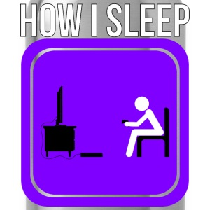 How A Gamer Sleeps by JuiceMan Benji - Water Bottle