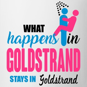 Goldstrand what happens there T-shirts - Kop/krus