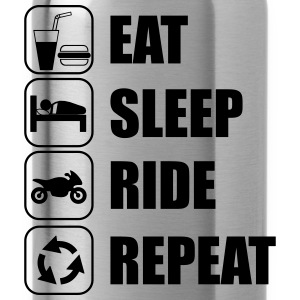 Eat,sleep,ride,repeat,Motorcycle T-shirt - Water Bottle