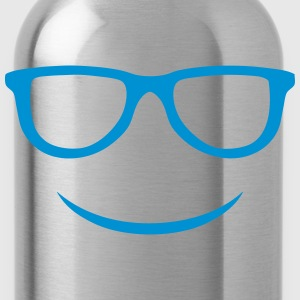 smile sunglasses Shirts - Water Bottle