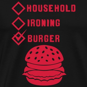 burger household ironing case cohe ok va Tabliers - T-shirt Premium Homme