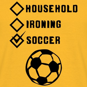 soccer household ironing case cohesive ok Tops - Men's T-Shirt