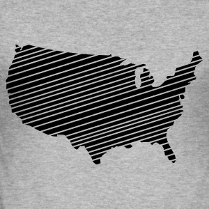 Heather grey USA - United States of America Jumpers - Men's Slim Fit T-Shirt