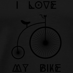 Old school Retro bike I love my cycling bike Other - Men's Premium T-Shirt