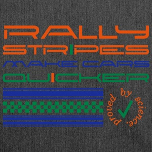 Rallystripes make cars quicker Hoodies & Sweatshirts - Shoulder Bag made from recycled material