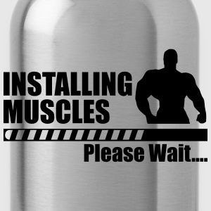 Installing muscles,gym,crossfit,body building  - Water Bottle