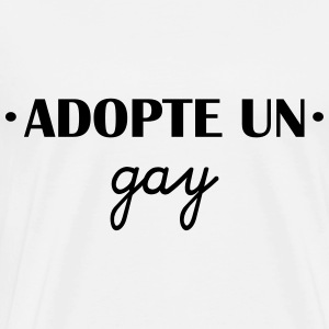 Adopte un gay Sweat-shirts - T-shirt Premium Homme