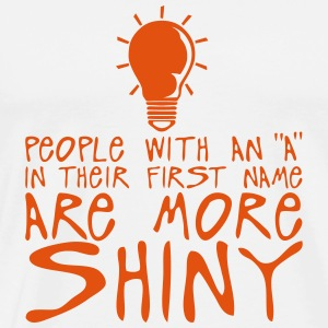 people with a more shiny quote bulb Long sleeve shirts - Men's Premium T-Shirt