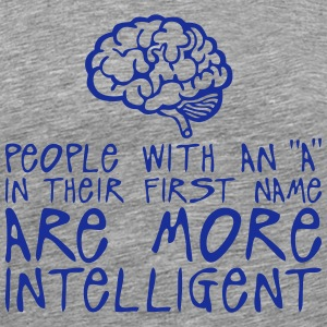 people with a more intelligent quote Long sleeve shirts - Men's Premium T-Shirt