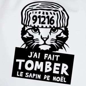 chat tomber sapin noel citation prisonni Tee shirts - Sac de sport léger