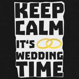 wedding time keep calm Sw8cz-Design Kopper & tilbehør - Premium T-skjorte for menn
