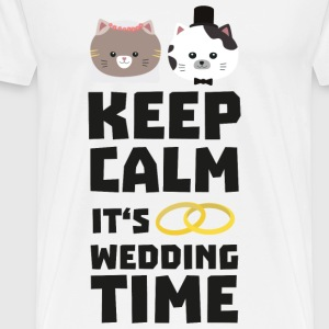 wedding time keep calm Sitj0-Design Kopper & tilbehør - Premium T-skjorte for menn
