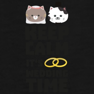 wedding time keep calm Sitj0-Design Muggar & tillbehör - Premium-T-shirt herr