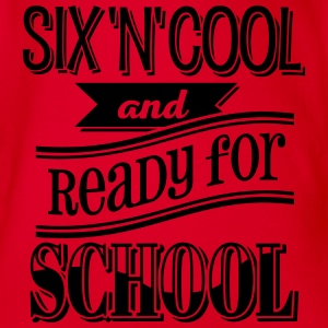 Six, cool and ready for school 1C - Baby Bio-Kurzarm-Body