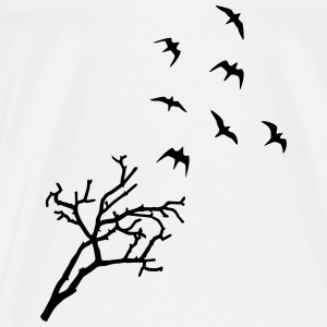 Tree and Birds, Freedom - oiseaux Manches longues - T-shirt Premium Homme
