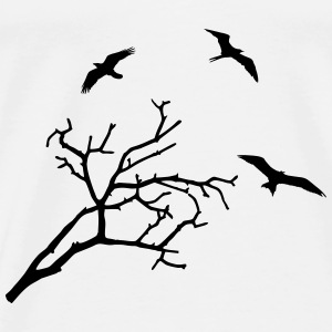 Tree and Birds Toppe - Herre premium T-shirt